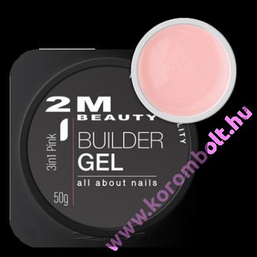 3in1 Pink Builder Gel, pink építőzselé 50g