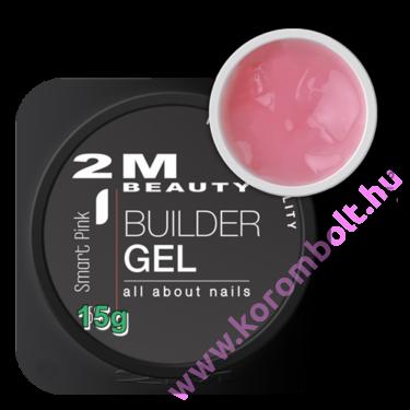 Halvány rózsaszínes árnyalatú alapozó zselé és építő műköröm zselé egyben