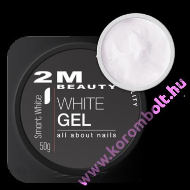 Smart  White cool gel- francia fehér építőzselé - uv/led gel -15g