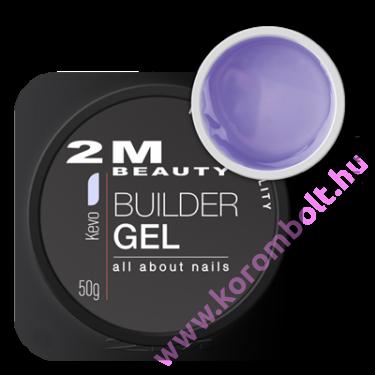 Kevo építőzselé, lilás, átlátszó építőzselé - uv gel - 50g