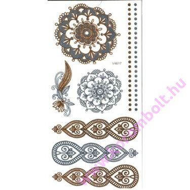 Arany-ezüst Henna tetováló matrica 10*17cm