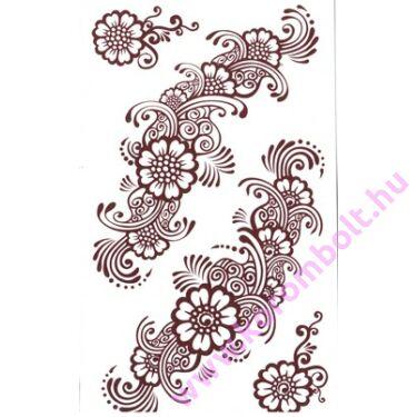 Bronz mintás Henna tetováló matrica 10*15cm