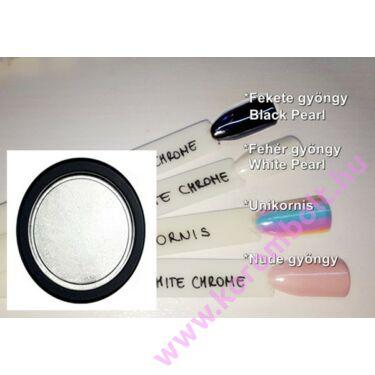Műköröm, Géllakk Pearl White Chrome Mirror