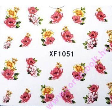 ÚJ*Akril hatású körmösmatrica, virágok, nail sticker