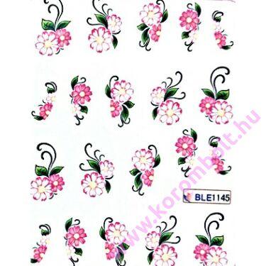 Akril hatású virágos körömdíszítő tetomatrica
