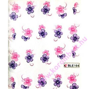 ÚJ*Akril hatású körömdíszítő matrica, virág mintás