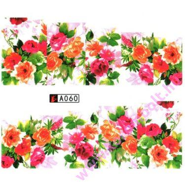 Akril hatású virágmintás