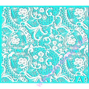 Akril hatású műköröm gel lakk matrica