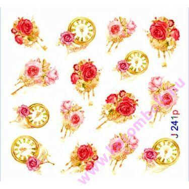 Akril hatású körömdíszítő körömmatrica,virágmintás