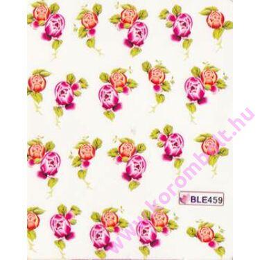Akril hatású körömmatrica, virág minta, nail sticker