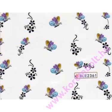Akril hatású körmösmatrica, pillangók, nail sticker