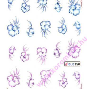 Akril hatású körmösmatrica, virágok, nail sticker