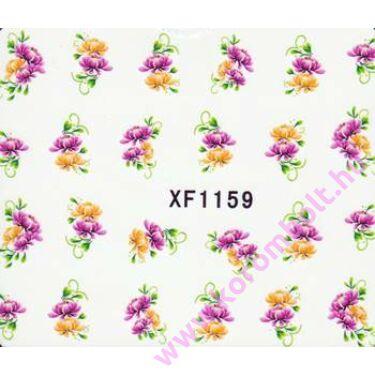 Akril hatású körömmatrica, mini méretű virág minta, nail sticker