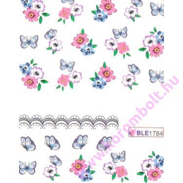 Akril hatású körmösmatrica pillangókkal