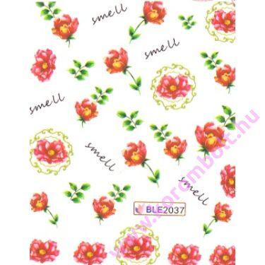 Akril hatású körmösmatrica virágokkal