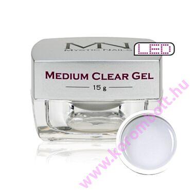 Medium Clear Gel, átlátszó építőzselé, 15g