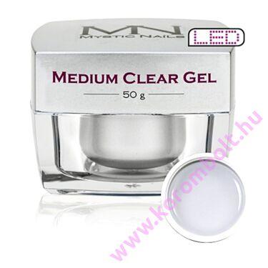 Medium Clear Gel, átlátszó építőzselé, 50g, Mystic Nails