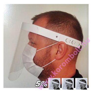 Műköröm pedikűr Arc pajzs, átlátszó plexi arcvédő pajzs szemüvegeseknek is, többet olcsóbban