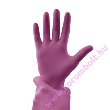 Gumikesztyű divatos magenta színben S, mini méretben