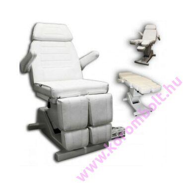 Motoros kezelő-pedikűr szék, pedállal
