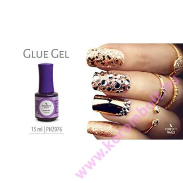 Glue gel,strasszkő ragasztó ecsetes zselé, Perfect Nails