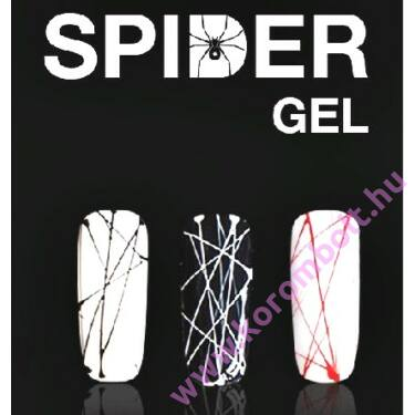 Spider gel,art color gel,piros spider zselé
