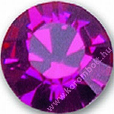 Fuchsia rózsaszín színű kristály strasszkő