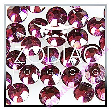 Amethyst lila színű kristály strasszkő, SS08 nagy méret - Zodiac (100db)