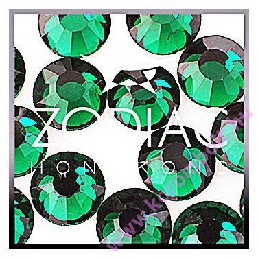 Emerald zöld színű kristály strasszkő, SS08 nagy méret